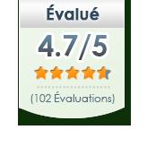 Évalué 4.7/5 102 Évaluations